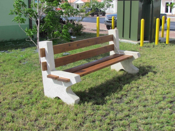 Precast Concrete Park Benches Caribbean Homes Limited